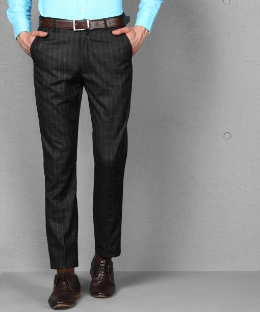 METRONAUT Slim Fit Men Polyester Viscose Blend Brown Trousers