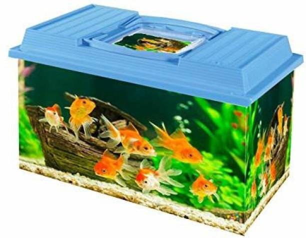 trixie Fish Tank Aquarium with Easy Carry Handle (10L) Rectangle Aquarium Tank