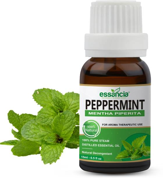 essancia Peppermint Essential Oil for Aromatherapy. 100% Pure, Natural, and Organic Essential Oil