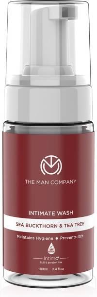 THE MAN COMPANY Intimo Tea Tree & Sea Buck Thorn Oil Intimate Wash | Prevents Bad Odour, Itching | pH Balance | 100ml