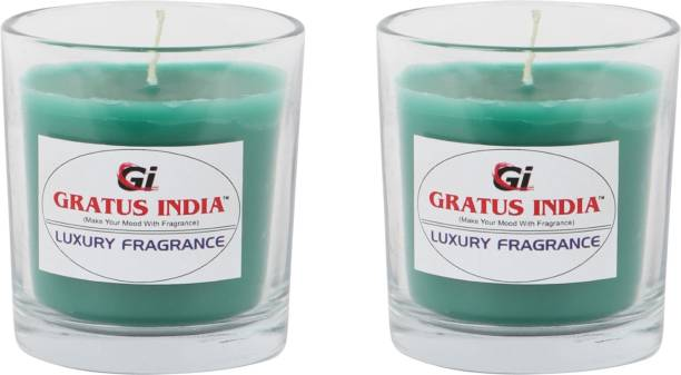 Gratus India scented candle LAVENDER set of 2 Candle