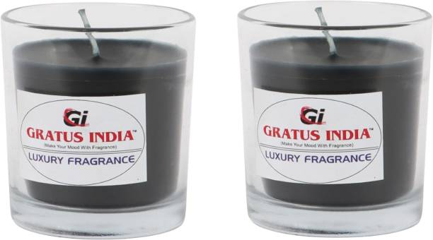 Gratus India scented candle pack of 2 Candle