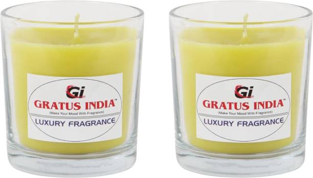 Gratus India scented candle LEMON set of 2 Candle
