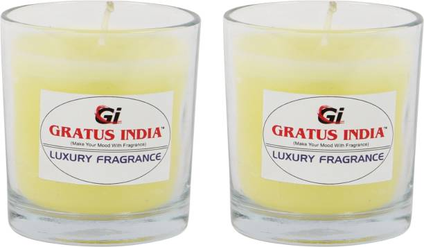 Gratus India scented candle set of 2 Candle