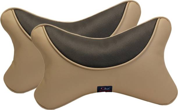 AutoFurnish Beige Sponge Car Pillow Cushion for Universal For Car