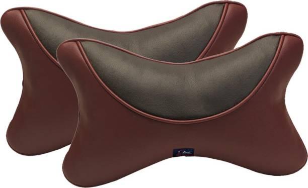 AutoFurnish Brown Sponge Car Pillow Cushion for Universal For Car