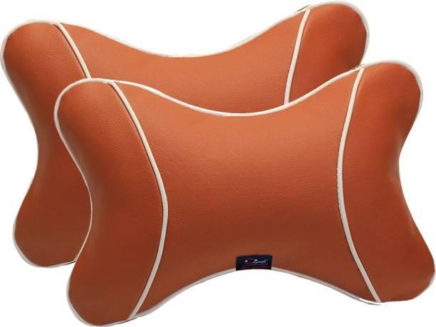 AutoFurnish Multicolor Leatherite Car Pillow Cushion for Universal For Car