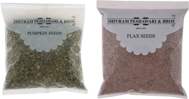 Shivram Peshawari & Bros Pumpkin Seeds , Brown Flax Seeds