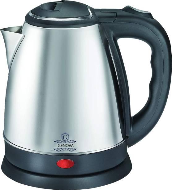 Genova Fast Boiling Tea Kettle Cordless, Stainless Steel Finish Hot Water Kettle – Tea Kettle, Tea Pot – Hot Water Heater Dispenser Electric Kettle