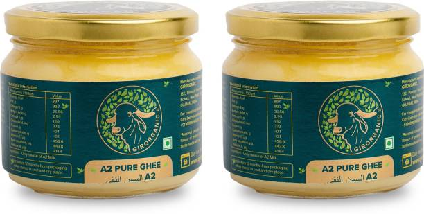 GIRORGANIC GIR COW PURE A2 GHEE 250 ML + 250 ML Ghee 230 g Glass Bottle