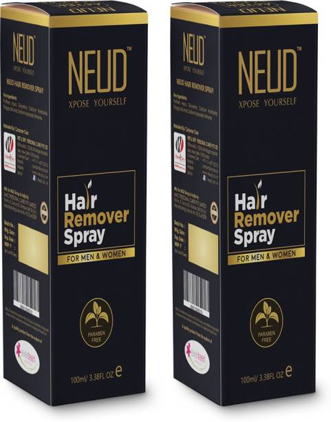 NEUD Hair Remover Spray for Men and Women – 2 Packs (100ml Each) Spray