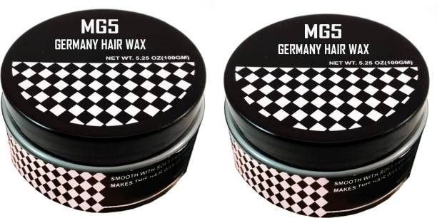MG5 Germany Strong Hold Hair Wax for Hair Styling ( 200 G ) Pack of 2 Hair Wax