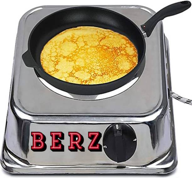 BERZ Chrome 1 year warranty electric cooking heater. Radiant Cooktop
