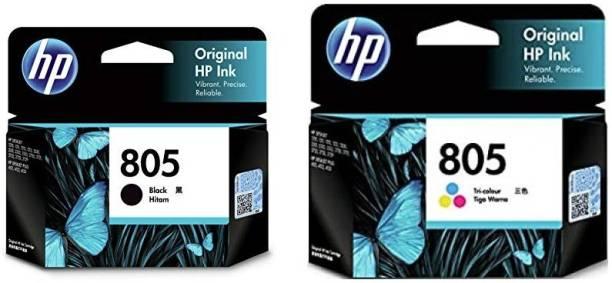 HP 805 Black + Tri Color Combo Pack Ink Cartridge