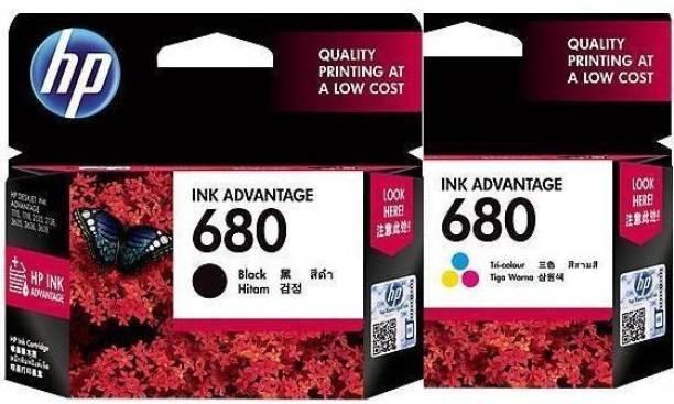 HP 680 Black + Tri Color Combo Pack Ink Cartridge