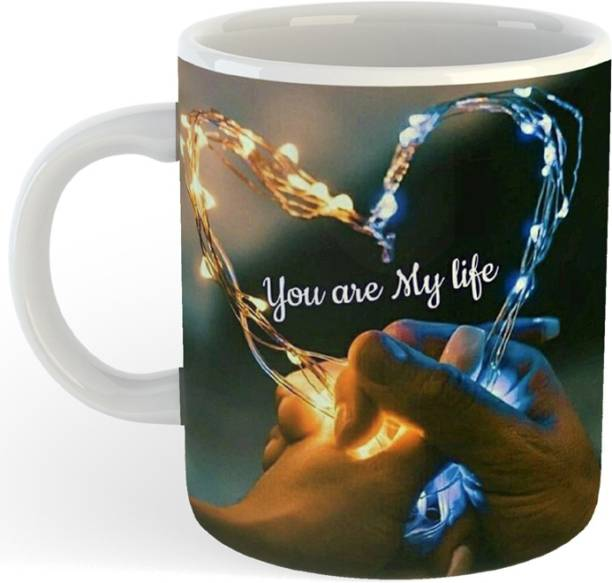 "RS CASE ""You Are My Life"" ""(Couple Heart)"" , Gift For Friends , Lovers , Valentine's day , Anniversary Gift , Valentine Ceramic Coffee Mug"