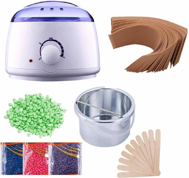 Lannister Wax Heater,Hot Wax Heater Combo Waxing, Wax Heater For Waxing Automatic Wax Heaters, Wax Machine For Women, Waxing Kit with Wax Beans(100g) and Wax Strips For Waxing (40pcs) Wax