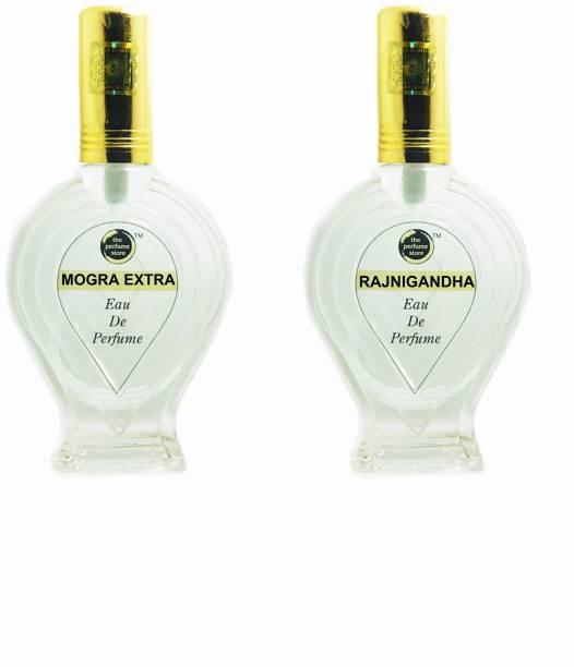 The perfume Store MOGRA EXTRA, RAJNIGANDHA (REGULAR PACK OF TWO) Eau de Parfum  -  120 ml