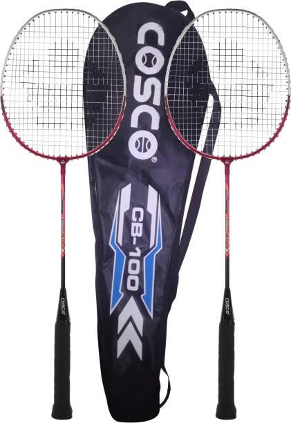 COSCO CB-100 Red Strung Badminton Racquet