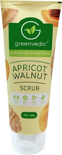 GreenVedic Apricot Walnut Face  Scrub