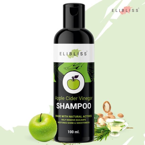 ELIBLISS Apple Cider Vinegar Shampoo Anti-Breakage, Hair Growth & Damage Control, Free from Paraben & Mineral Oil, for Men and Women Hair Shampoo (100 ml)