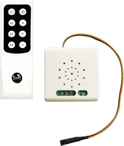 DOTT Remote Control Switch Diaze 3LF for 2 Lights & 1 Fan - One Way Wireless Smart Switch, A Home Automation Device Smart Switch