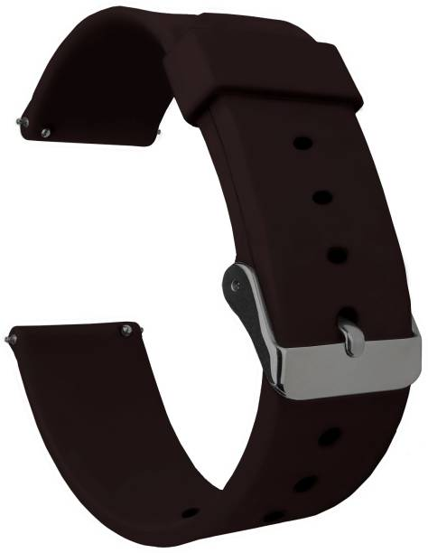 ACM Watch Strap Silicone Belt 22mm for Huawei Watch Gt 2e Sport 46mm ( Smartwatch Casual Classic Band Brown) Smart Watch Strap
