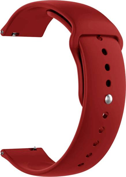 ACM WSM2P22RD1223N1 Watch Strap Silicone Belt 22mm for Below Suitable Smartwatch Models (Sports Band Red) Smart Watch Strap