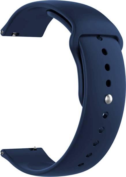 ACM WSM2P22DBL1223N1 Watch Strap Silicone Belt 22mm for Below Suitable Smartwatch Models (Sports Band Dark Blue) Smart Watch Strap