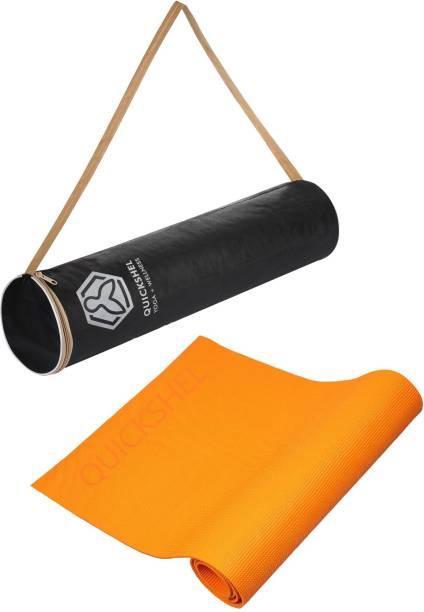 Quick Shel 100%EVA Eco Friendly Mat, Exercise & Gym Mat With Bag Orange 6 mm Yoga Mat