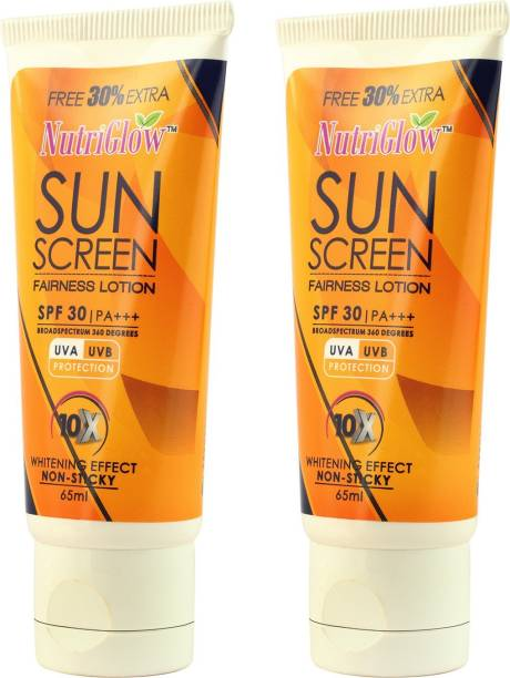 NutriGlow sunscreen fairness lotion set of 2 - SPF 30 PA+++