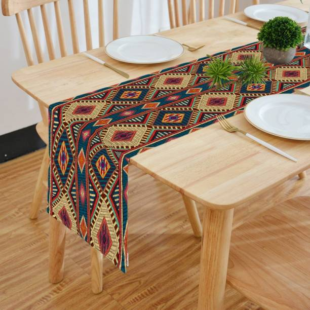 HOMADORN Multicolor 152 cm Table Runner