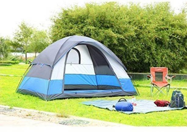 vasoya enterprises ADVENTURE HIKING FAMILY TRAVEL TENT For 4 Person Tent (Multicolor) Tent - For 4 Person