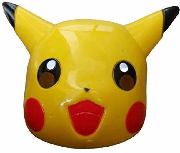 mushti Holi Special Pikachu Cartoon Face Mask for Kids Holi Celebration, Birthday Decorative Mask