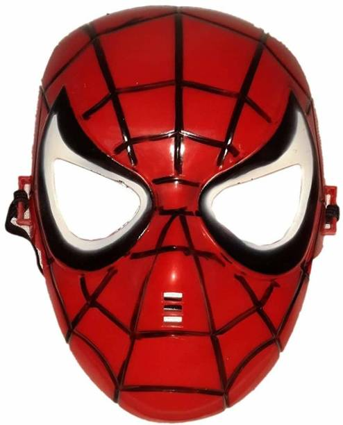 Gaura Creation Super Hero Spider Man Plastic Face Mask for Kids Birthday Party Holi festival Party Mask