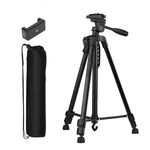 Tygot 3366 Aluminum Tripod (55-Inch), Universal Lightweight Tripod with Mobile Phone Holder Mount & Carry Bag for All Smart Phones, Gopro, Cameras Tripod