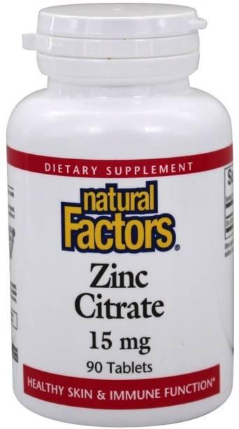 Natural Factors Zinc Citrate, 15 mg, 90 Tablets NFS-01678