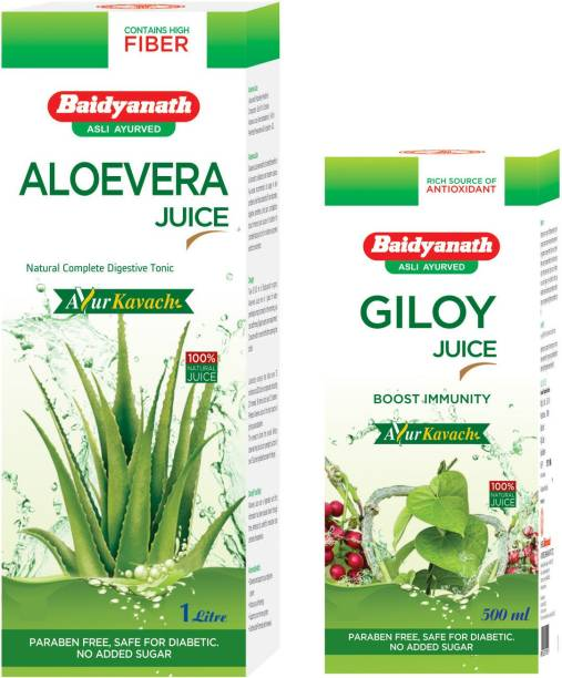 Baidyanath Aloe vera and giloy juice combo