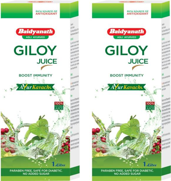Baidyanath Boost Immunity Natural Giloy Juice (Pack of 2)