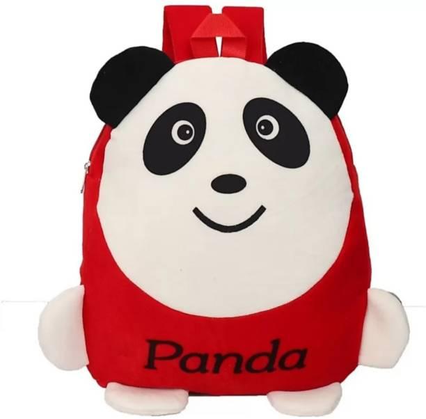 3G Collections Red Panda Velvet Soft Toy Kids Plush Bag/School Bag/Teddy Bag For Kids 2-6yrs Waterproof Plush Bag