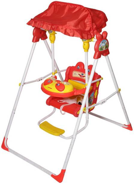 Miss & Chief Swing for Indoor and Outdoor for Kids with Light & Music (Red) Swings