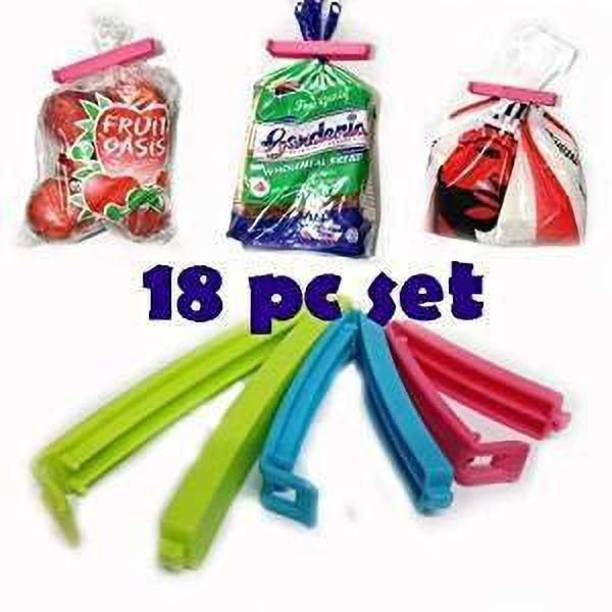sharma Enterprises plastic food bag sealing clips,bag clip 6 Large.6 Medium,6 Small Plastic plastic food bag sealing clips,bag clip,snacs clip