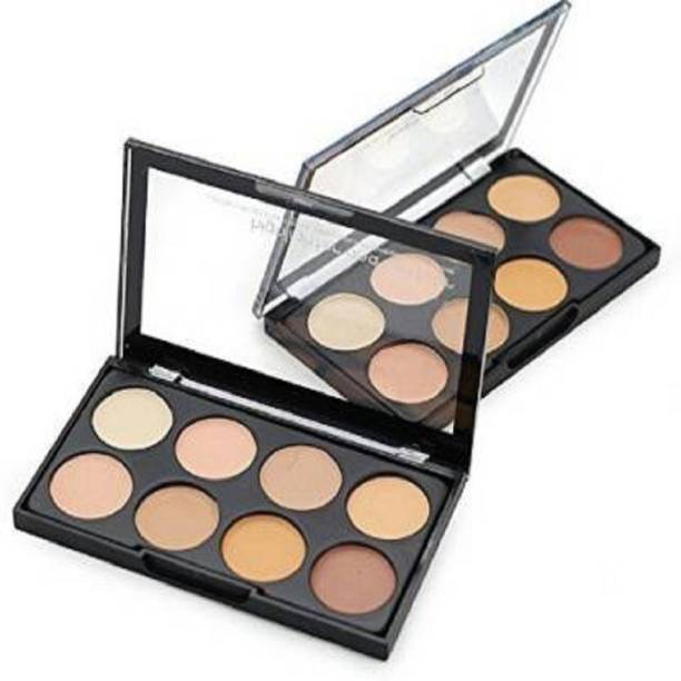 Kiss Beauty Highlighter and Contour Concealer Palette (8 shades) Foundation(Multicolor, 158 g) Concealer