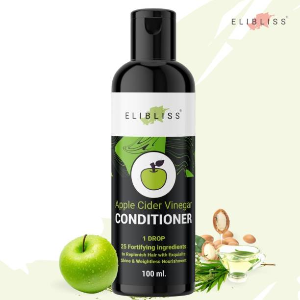 ELIBLISS Apple Cider Vinegar Hair Conditioner for Frizz-Free and Stronger Hair, Dry & Frizzy Hair (100 ml)
