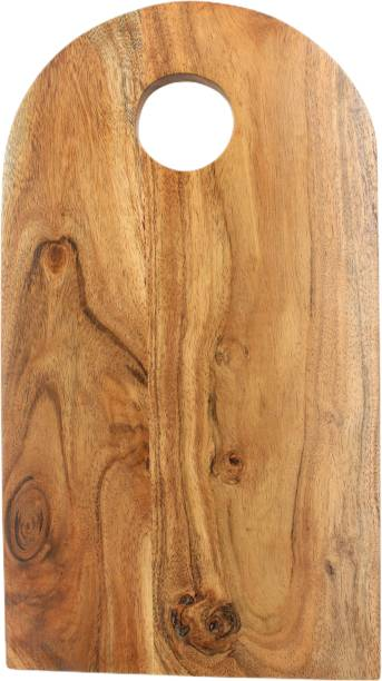 Fobterm Fobterm Wooden Wood Chopping Cutting Board For Fruits, Vegetable, Meat Kitchen Made in Acacia Wood, Large Size, Natural Brown, 41 x 23 x 1.8 CM, Set of 1 Wooden Cutting Board