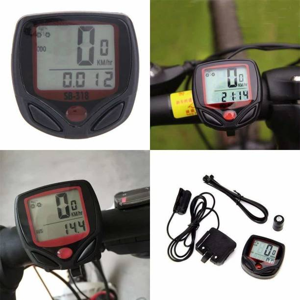 TrustShip ™ Bicycle Wire Computer Cyclometer Speedometer with 15 Functions Wired Cyclocomputer
