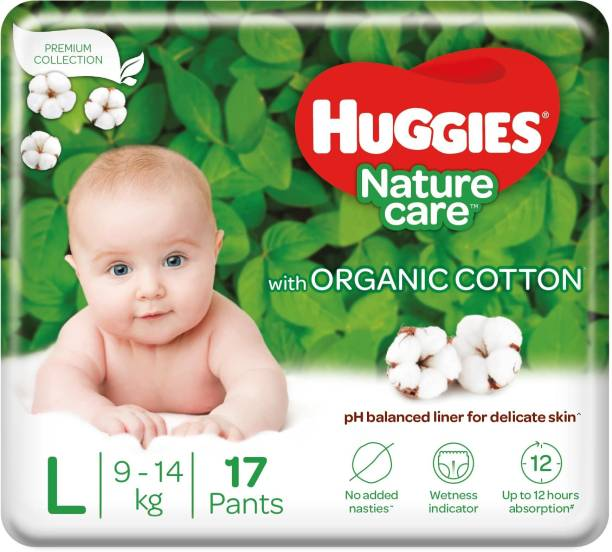 Huggies Nature Care Pants with organic cotton - L