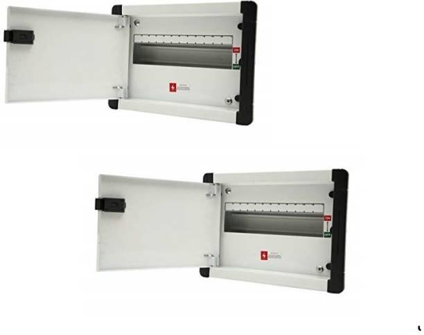 Suntech Industries 14 Way SPN Metal Double Door Distribution Board MCB Box - Pack of 2 Distribution Board