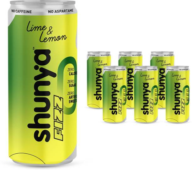 shunya Fizz Lime & Lemon | Guilt-free Soft Drink with 0 Calories, 0 Artificial Sweeteners Energy Drink