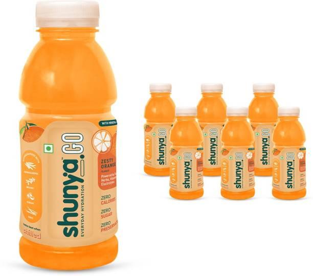 shunya Go Zesty Orange | Active Hydration Drink with 0 Calories, 0 Sugar, 0 Preservatives Energy Drink